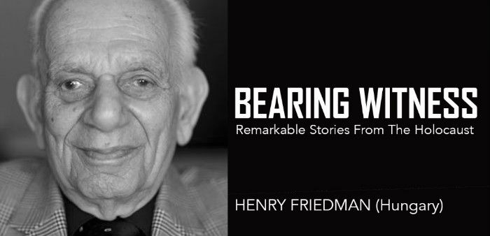Bearing Witness: Henry Friedman